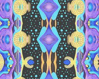 Original pattern blue black lilac space Stock Image