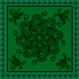 Original pattern in green shades Stock Photos