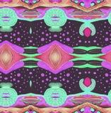 Original pattern turkish green black purple space Stock Photography