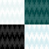 Original 4 patterns with snowflakes Royalty Free Stock Image