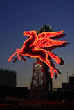 The Original Pegasus Figure in Downtown Dallas in front of the Omni Hotel Stock Photos
