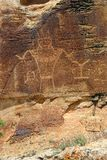 Original Petroglyphs in Utah Mountains Stock Images