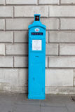 An original Police telephone free for use of public, on the streets of London. Royalty Free Stock Photo