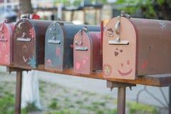 Original post boxes Stock Image