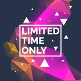 Original poster for discount. Abstract polygonal background. Low poly design. Royalty Free Stock Photography
