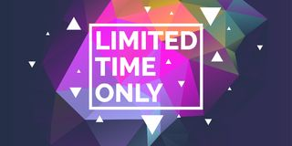 Original poster for discount. Abstract polygonal background. Low poly design. Royalty Free Stock Images