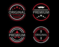 Original and premium circle badge Stock Photography