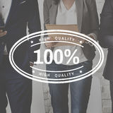 Original Premium Limited Quality Concept. 100 Percent high quality stamp on business people stock illustration