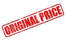 ORIGINAL PRICE red stamp text Royalty Free Stock Photo