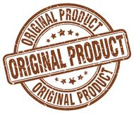 Original product brown stamp. Original product brown grunge round stamp isolated on white background Royalty Free Stock Photos