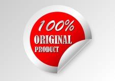 original product certified label stock illustration
