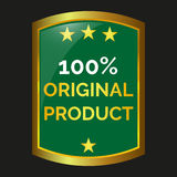 Original product label. On black background, vector illustration Stock Photography