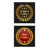 Original product label in two versions. royalty free illustration