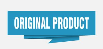 Original product. Sign.  paper origami speech bubble.  tag.  banner stock illustration