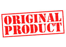 ORIGINAL PRODUCT. Red Rubber Stamp over a white background Stock Image