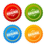 Original product star seal Royalty Free Stock Image