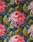 Original- prydnad för textiltyg av den moderna stilen Bilskrället hand-målas med gouache Arkivfoto