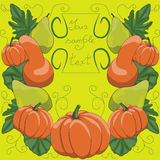 Original pumpkin set for celebrating Royalty Free Stock Photos