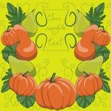 Original pumpkin set for celebrating Royalty Free Stock Photos