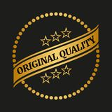 Original quality label. On black background. Vector illustration Stock Photography
