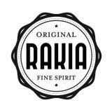 Original Rakia vintage stamp Stock Photo