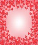 Original- ram f?r foto och text R?da ballonger i forma av en hj?rta En underbar gåva för dag för valentin s vektor royaltyfri illustrationer