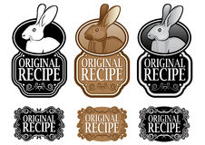 Original Recipe Rabbit version vertical seal Stock Image