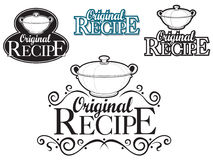 Original Recipe Seal. Seal with the Original Recipe tittle created for supporting food products and menus Royalty Free Stock Photography