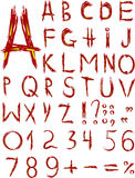 Original red font Royalty Free Stock Images