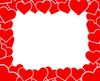 The original red and white frame Royalty Free Stock Image