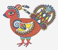 Original retro cartoon chicken drawing, symbol of 2017 new year Royalty Free Stock Photography