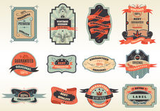 Original retro labels emblems collection Stock Photography