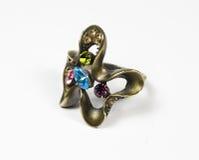 Original ring from dark metall Royalty Free Stock Images