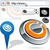 Original ring design element. Stock Image