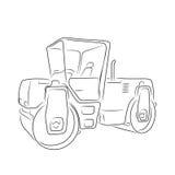 Original road roller, vector illustration Stock Image