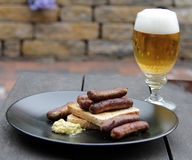 Original rostbratwurst Royalty Free Stock Photography