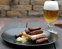Original rostbratwurst Stock Photo