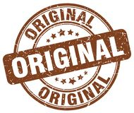 Original stamp. Original round grunge stamp isolated on white background Stock Photos