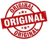 Original round grunge stamp. Original round red grunge stamp Stock Photos