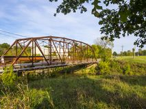 Original Route 66 Bridge from 1921 in Oklahoma Stock Photography