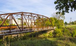 Original Route 66 Bridge from 1921 in Oklahoma Royalty Free Stock Photography