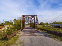 Original- Route 66 bro från 1921 i Oklahoma - JENKS - OKLAHOMA - OKTOBER 24, 2017 Arkivfoto