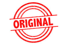 ORIGINAL Rubber Stamp. Over a white background Stock Images