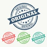 Original rubber stamp set in grungy style. Vector Royalty Free Stock Image