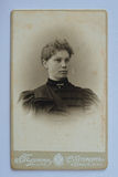 Original 1890s antique photo of a young woman Stock Photos