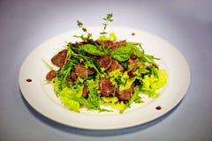 Original salade with mushrooms Royalty Free Stock Photos
