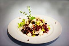 Original salade with mushrooms Stock Images