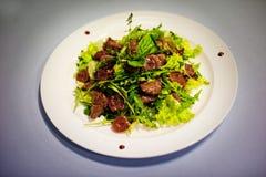 Original salade with mushrooms Royalty Free Stock Images
