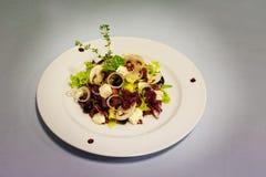 Original salade with mushrooms Stock Photography