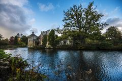 Scotney Castle, near Lamberhurst in Kent, England. The original Scotney Castle was built beginning in 1378 and completed in 1380. However, it has been royalty free stock photography